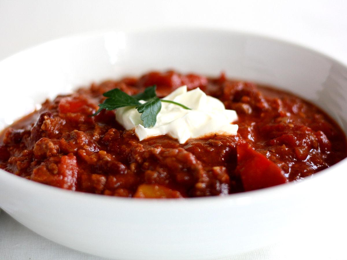 Le chili con carne est le plat national de Mexique, plus ou moins épicé