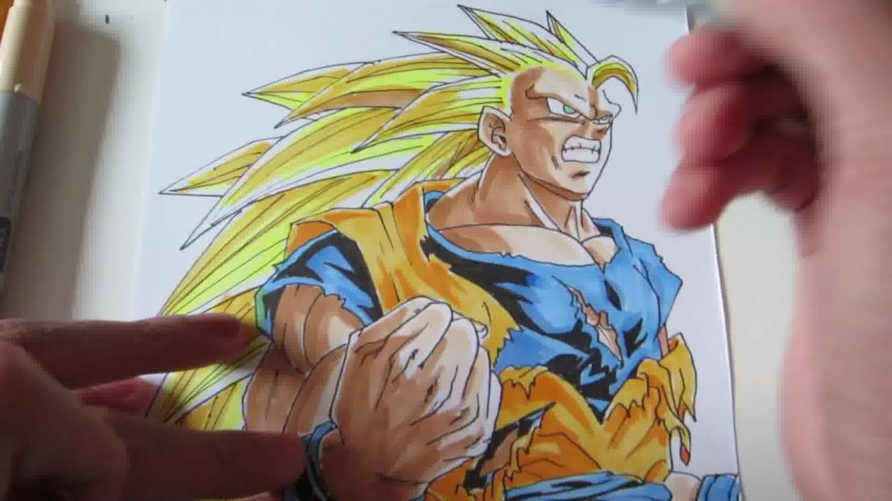 Comment dessiner sangoku super sayen 3 ?